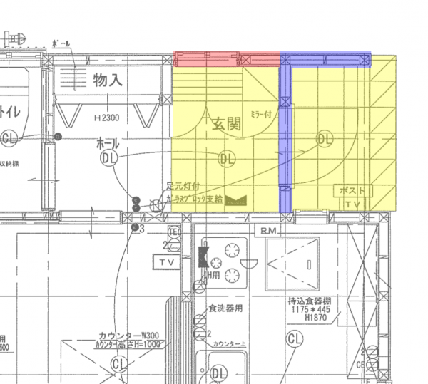 玄関平面図