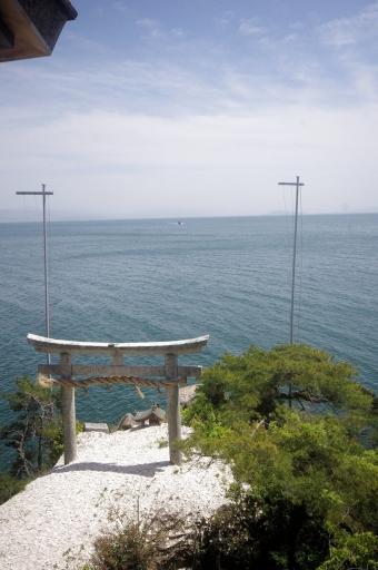 都久夫須麻神社の龍神遙拝所