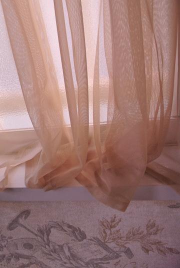 たぷたぷの長さに仕上げたカーテン