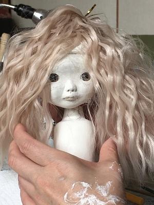 20170628 球体関節人形 髪の毛