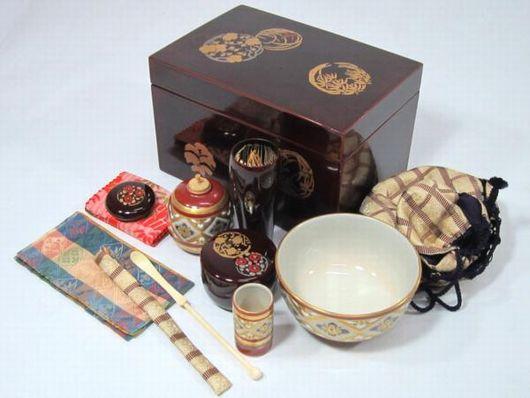 木製 塗箱 茶箱 茶碗など 茶道具