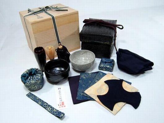 和田菁竺作 御所籠 茶道具