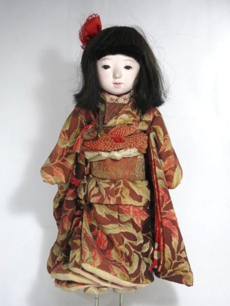 古い市松人形 女の子 高さ42cm