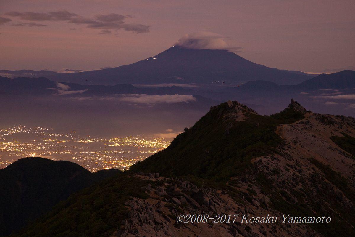 3000mの夜景 (南アルプス 観音岳)