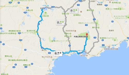 内浦山県民の森ルート
