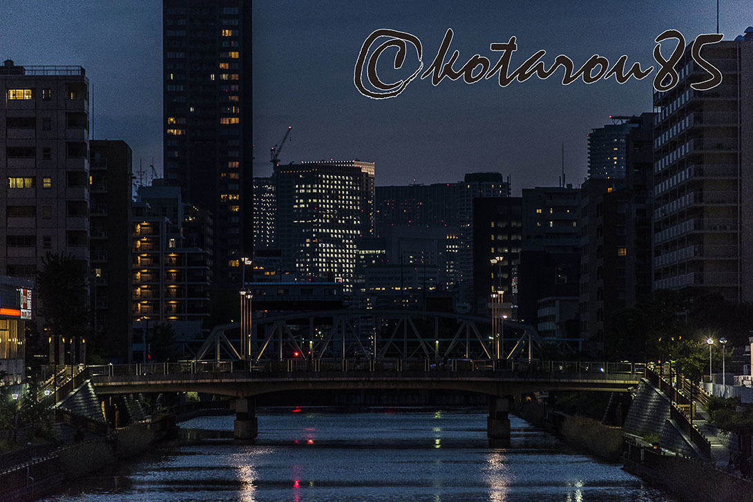 橋の街の夕暮れ 20170609