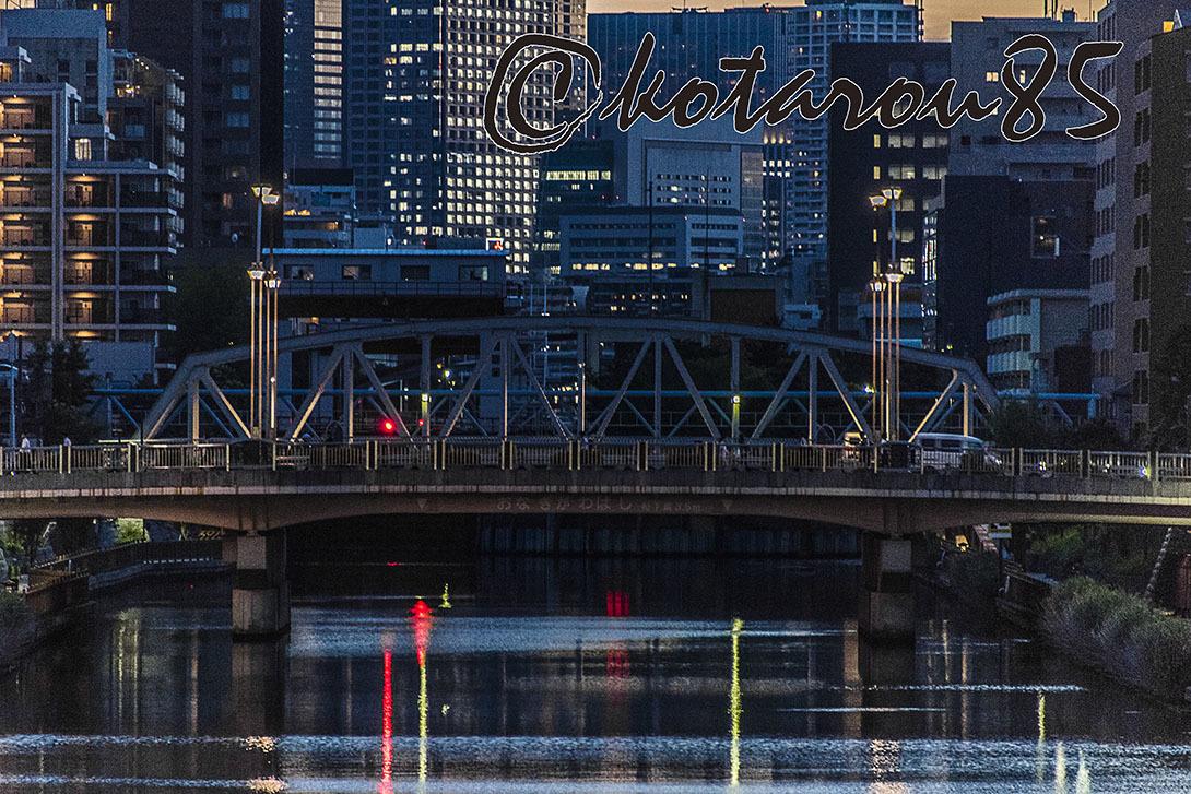 橋のある街 梅雨の夕暮れ 20170701