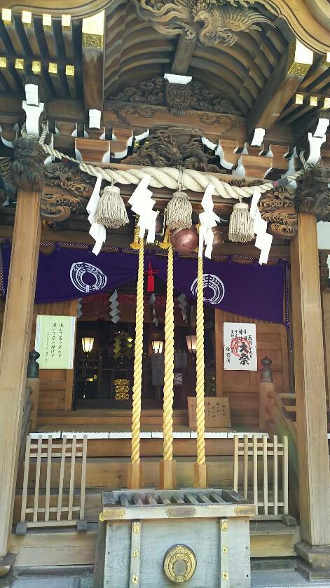 小網神社例大祭の御本殿