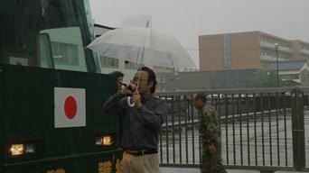 朝鮮総連石川県本部抗議2