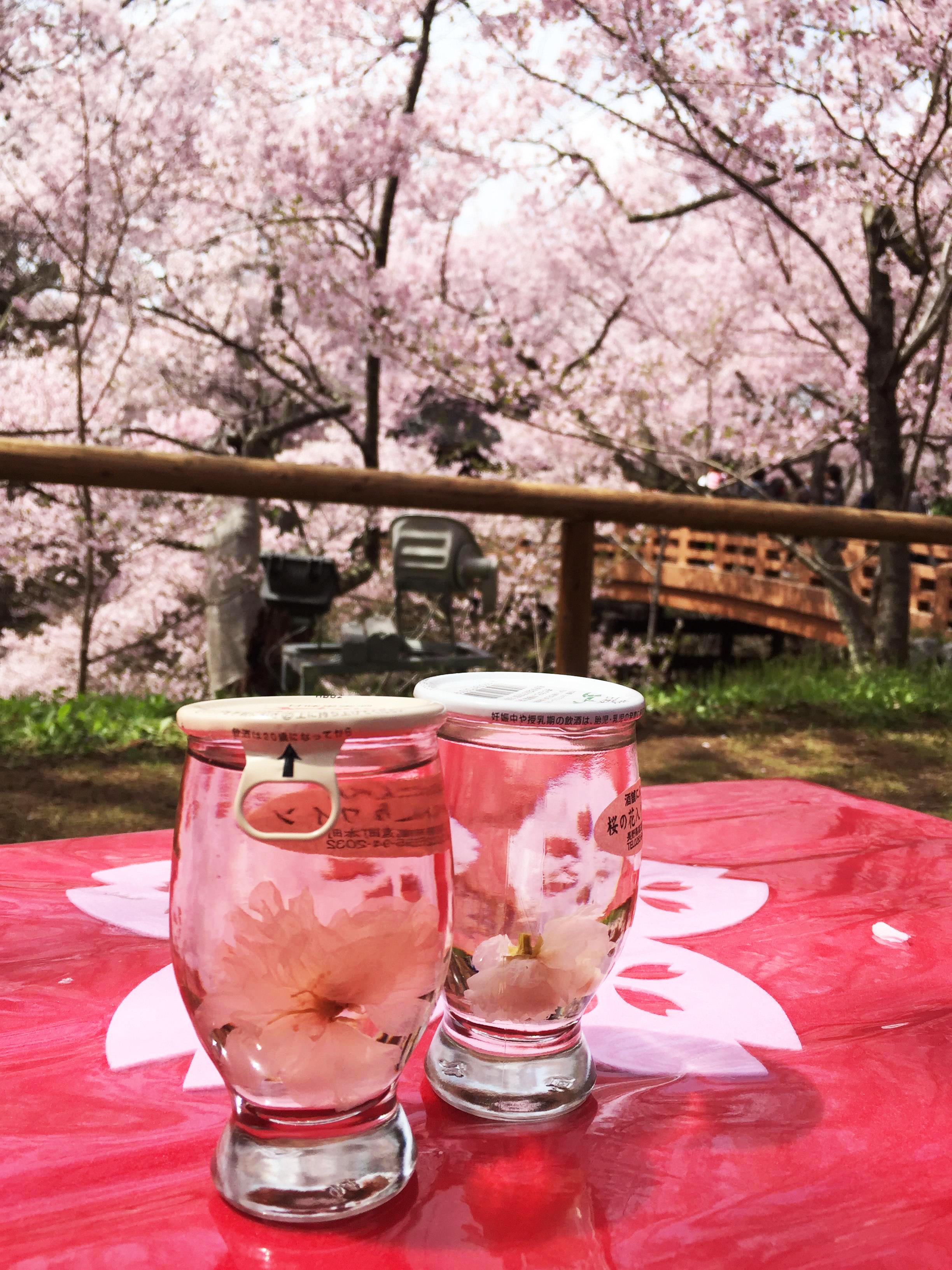 1704桜の花入りワイン