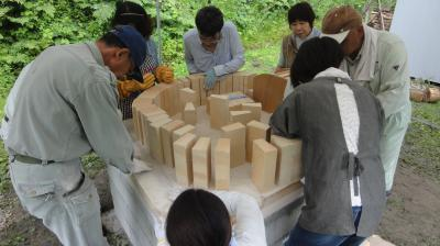 本格的石窯に作りに挑戦