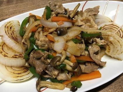 野菜と豚肉の炒め物