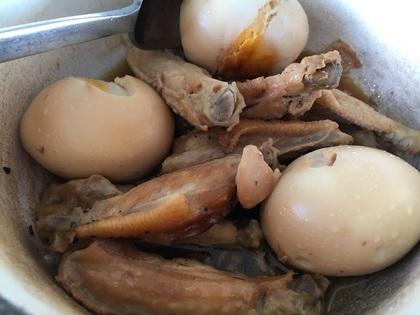 手羽中と卵の甘辛煮