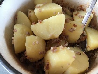 挽肉とジャガイモの塩煮