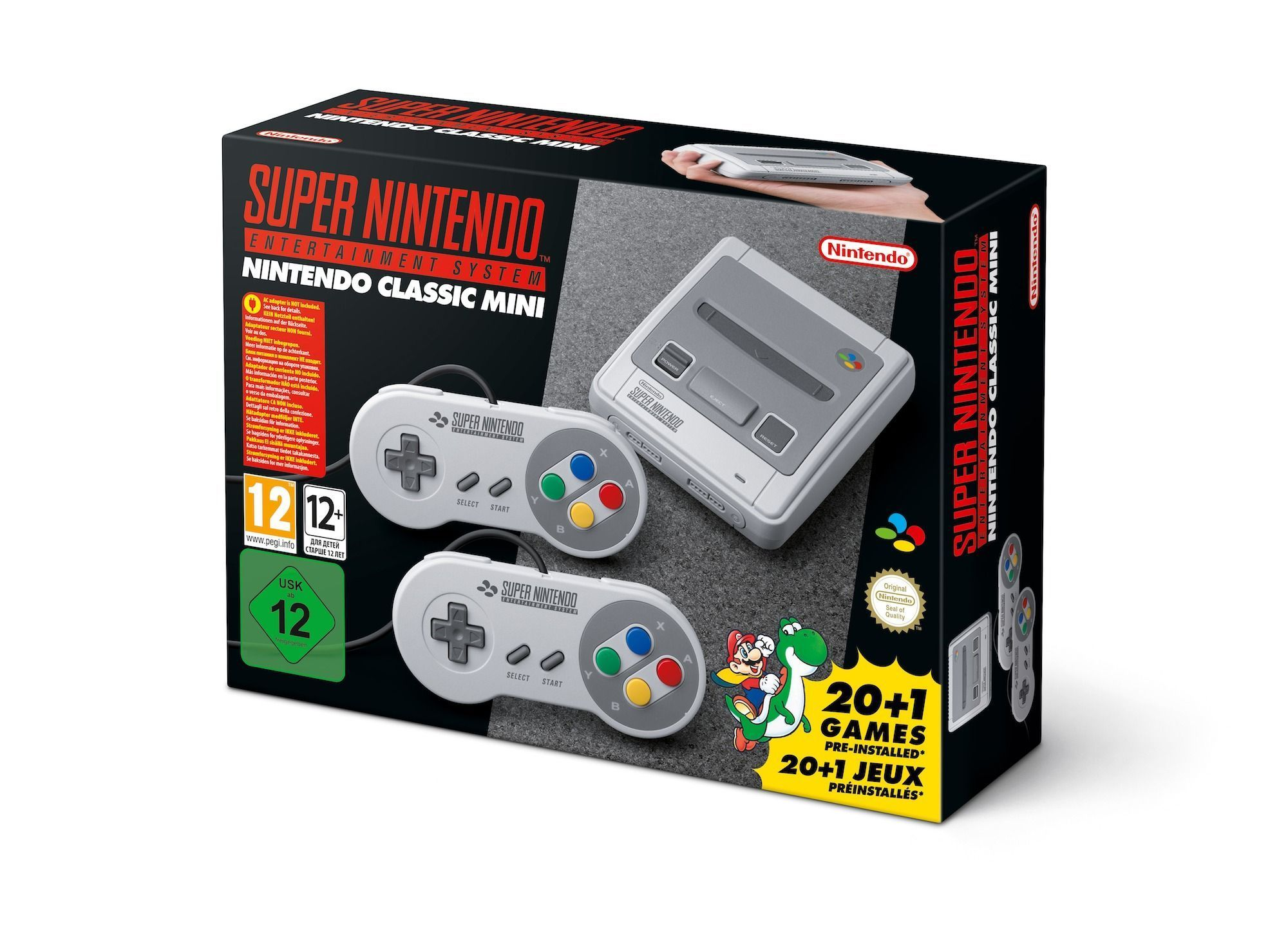 Super Nintendo Classic Mini design for Europe 1