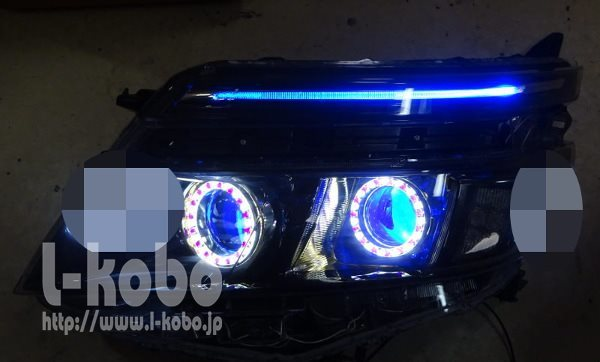 80VOXYのヘッドライト1