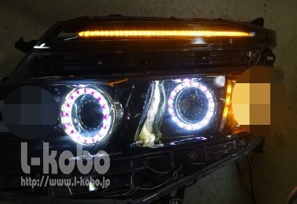 80VOXYのヘッドライト2