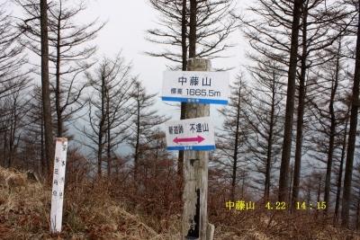 中藤(なかっとう)山(1,665m)