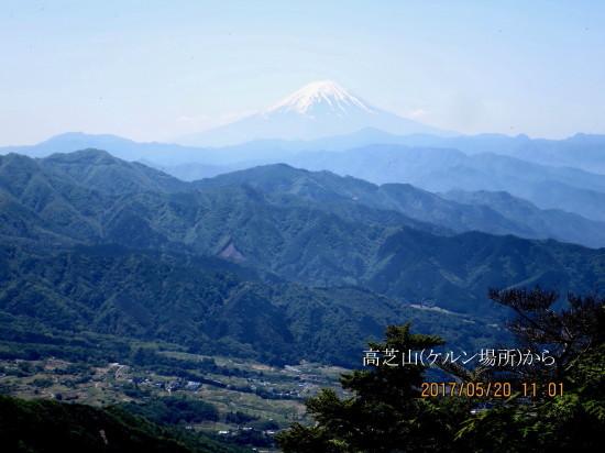 高芝山ケルンから富士山