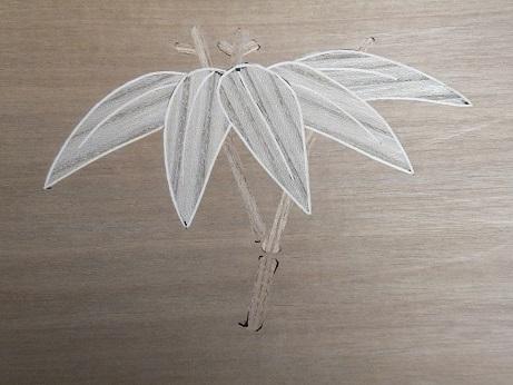 笹の葉線象嵌2