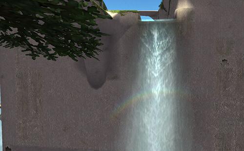 ル・オンの庭の虹
