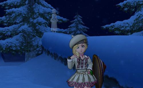 吹雪にほほえむ雪女