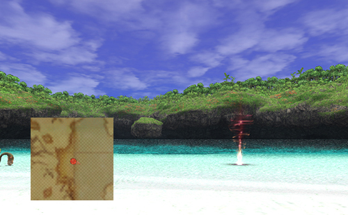 東の砂浜にいたっては中央に設置