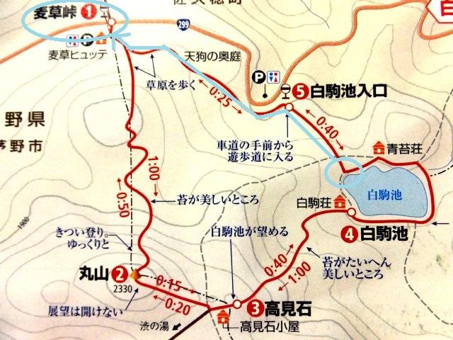 白駒池・高見石 ハイキングマップ 003 - コピー - コピー