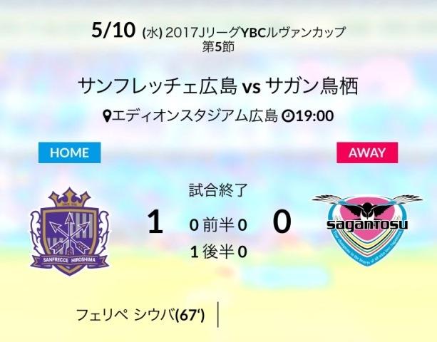ルヴァン杯広島戦