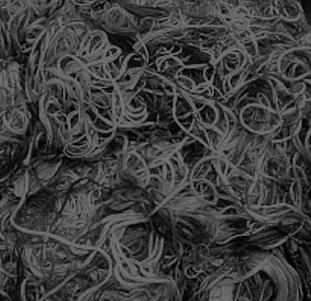 絡まった黒糸