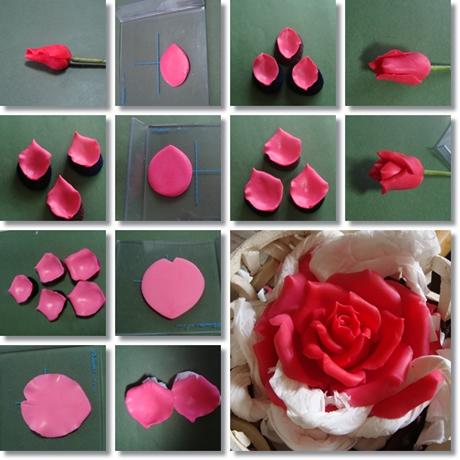 大輪のバラ 花びら