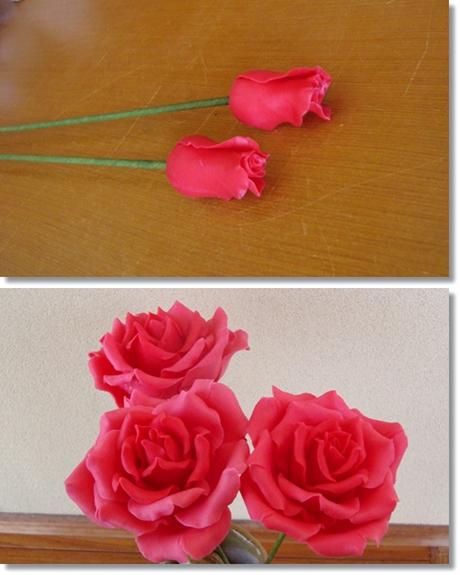 大輪のバラ 花