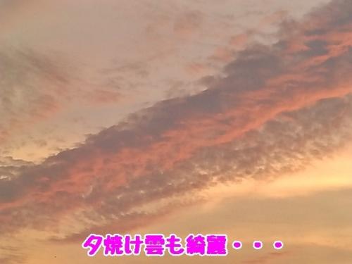 夕焼け雲も