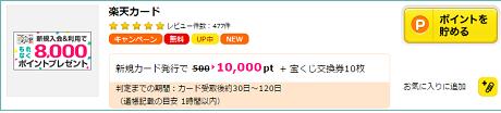 楽天カード1万円