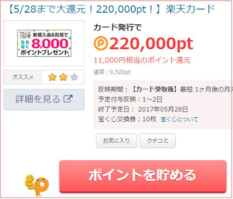 楽天カード1万円タウン