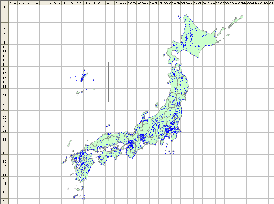 全日本市町村プロット