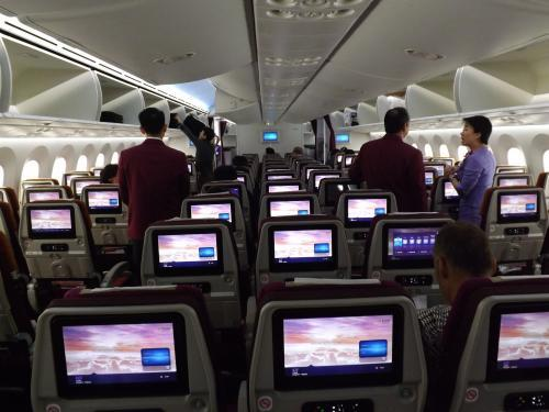 タイ→日本 機内