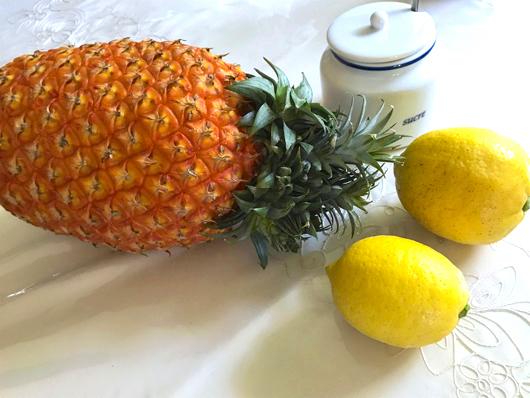 パインアップルとレモン