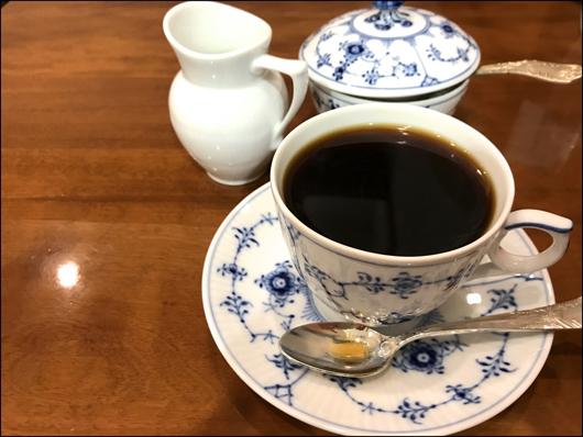 カレーセットのコーヒー