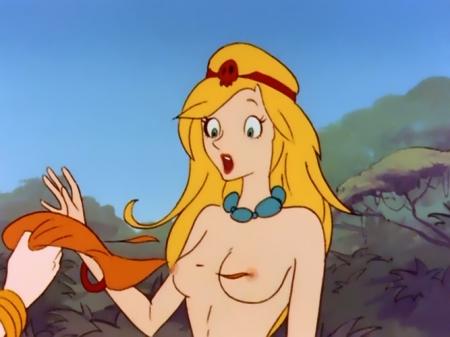 ヤッターマン1977 ドロンジョ様の胸裸ヌード乳首21
