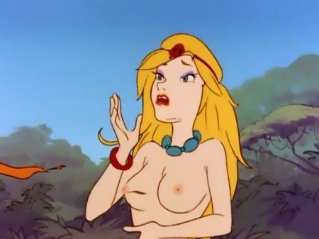 ヤッターマン1977 ドロンジョ様の胸裸ヌード乳首22