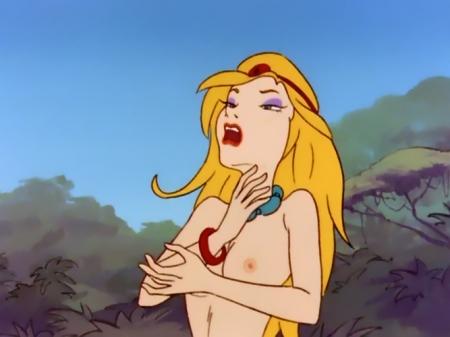 ヤッターマン1977 ドロンジョ様の胸裸ヌード乳首23