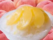 山形白桃かき氷