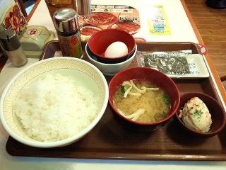 170501_4622 すき家朝定食「たまごかけごはん朝食」ご飯大盛280円VGA