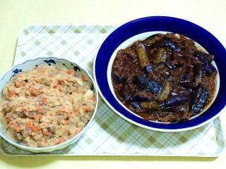 170512_4638 財田さんの料理・卯の花・麻婆茄子VGA