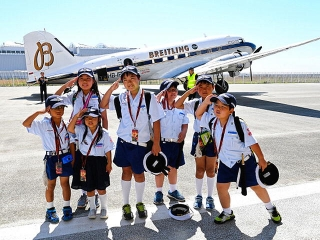 170519「BREITLING DC-3 World Tour in KOBE」搭乗した神戸海洋少年団団員VGA