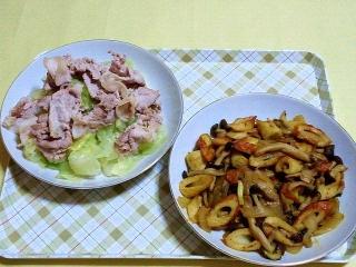 170530_4671 茹でキャベツと豚しゃぶ・竹輪とキャベツのカレー炒めVGA