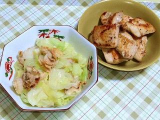 170602_4683 キャベツと帆立の塩麹煮・黒胡椒チキンVGA