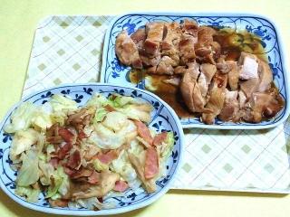 170623_4744 野菜炒め・鶏の照り焼きVGA