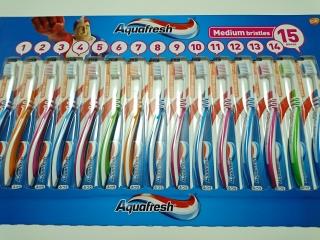 コストコ アクアフレッシュ歯ブラシ15本¥1188